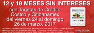Costco Promoción MSI Banamex Marzo 24