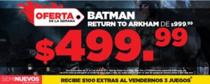 Gamers Oferta Batman Return to Arkham