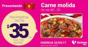 Soriana Oferta Carne Molida Marzo 22