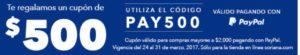Soriana Promoción PayPal