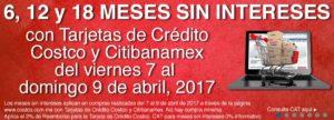 Costco Promoción MSI Banamex Abril 7