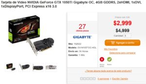 PC en Línea Oferta GeForce 1050 Ti