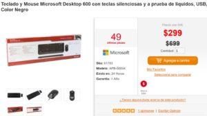 PC en Línea Oferta Teclado y Mouse Microsoft