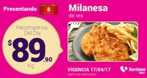 Soriana Oferta Milanesa de Res Abril 17