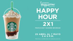 Starbucks Happy Hour Abril 25
