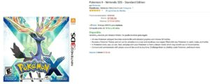 Amazon Oferta Pokemon X