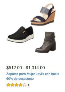 Amazon Oferta Zapatos Para Mujer Levi's