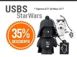 RadioShack Oferta Memorias USB Star Wars