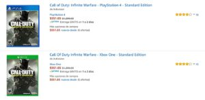 Amazon Oferta Call of Duty
