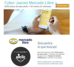 Mercado Libre Cyber Jueves Citibanamex Junio 8