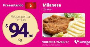 Soriana Oferta Milanesa de Res Junio 26