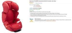 Amazon Oferta de Autoasiento Maxi Cosi