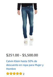 Amazon Oferta Ropa Calvin Klein Para Hombre y Mujer