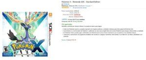 Amazon Oferta Pokemon X