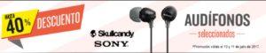 RadioShack Oferta de Audífonos Sony y Skullcandy
