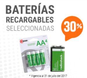 RadioShack Oferta Baterias Recargables