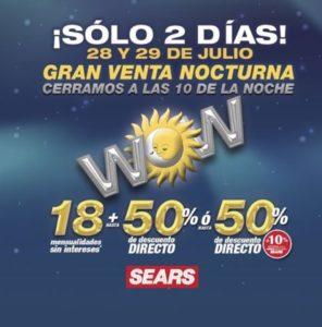 Sears Gran Venta Nocturna Julio 28