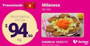 Soriana Oferta Milanesa de Res Julio 10
