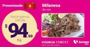Soriana Oferta Milanesa de Res Julio 17