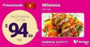 Soriana Oferta Milanesa de Res Julio 24
