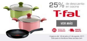 Soriana Oferta Productos de Cocina T-fal