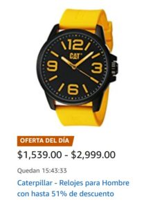 Amazon Oferta de Relojes Caterpillar
