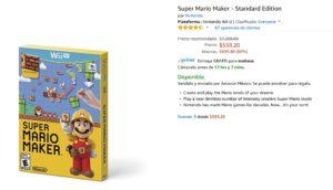 Amazon Oferta Mario Maker para Wii U
