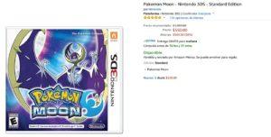 Amazon Oferta Pokemon Moon