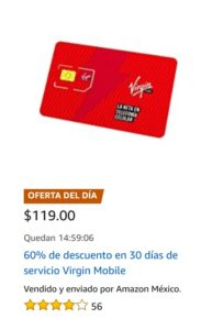 Amazon Oferta Servicio Virgin Mobile