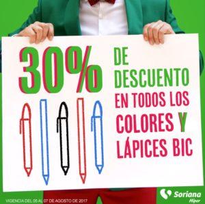 Soriana Oferta Colores y Lapices Bic