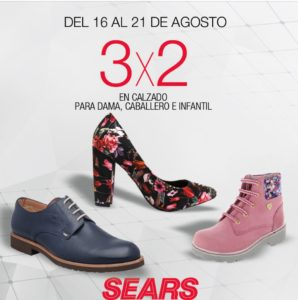 Sears Oferta Calzado Agosto 16