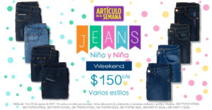 Suburbia Oferta Jeans Weekend para Niño y Niña