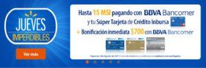Walmart Promoción Bonificación Bancomer