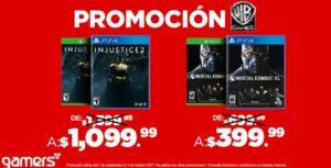 Gamers Oferta Injustice 2 y Mortal Kombat XL