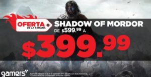 Gamers Oferta Shadow of Mordor
