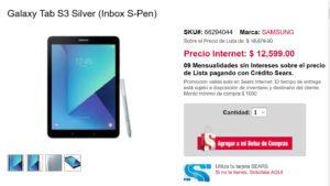 Sears Oferta de Samsung Galaxy Tab S3