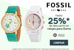 Soriana Oferta de Relojes Fossil para Dama