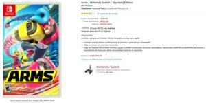 Amazon Oferta Arms para Nintendo Switch