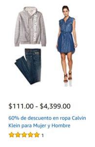 Amazon Oferta Ropa Calvin Klein