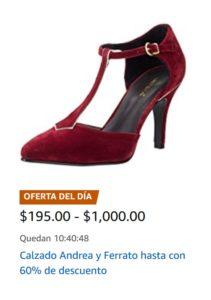 Amazon Oferta Zapatos Andrea y Ferrato