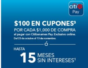 Best Buy Promoción Citibanamex Pay