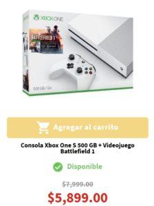 Elektra Oferta Xbox One S con Battlefield 1