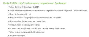 Elektra Promoción Santander