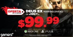 Gamers Oferta Deux Ex Mankind Divided para Xbox One o PS4