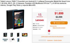 PC en Línea Oferta Tablet Lenovo