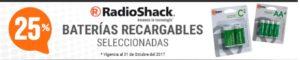 RadioShack Oferta de Baterías Portatiles Octubre