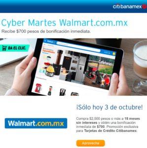 Walmart Cyber Martes Citibanamex Octutbre 3