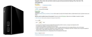 Amazon Oferta Disco Duro Seagate