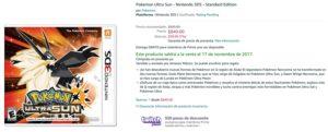 Amazon Oferta Pokemon Sun