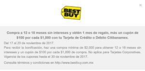 Best Buy Promociones El Buen Fin 2017